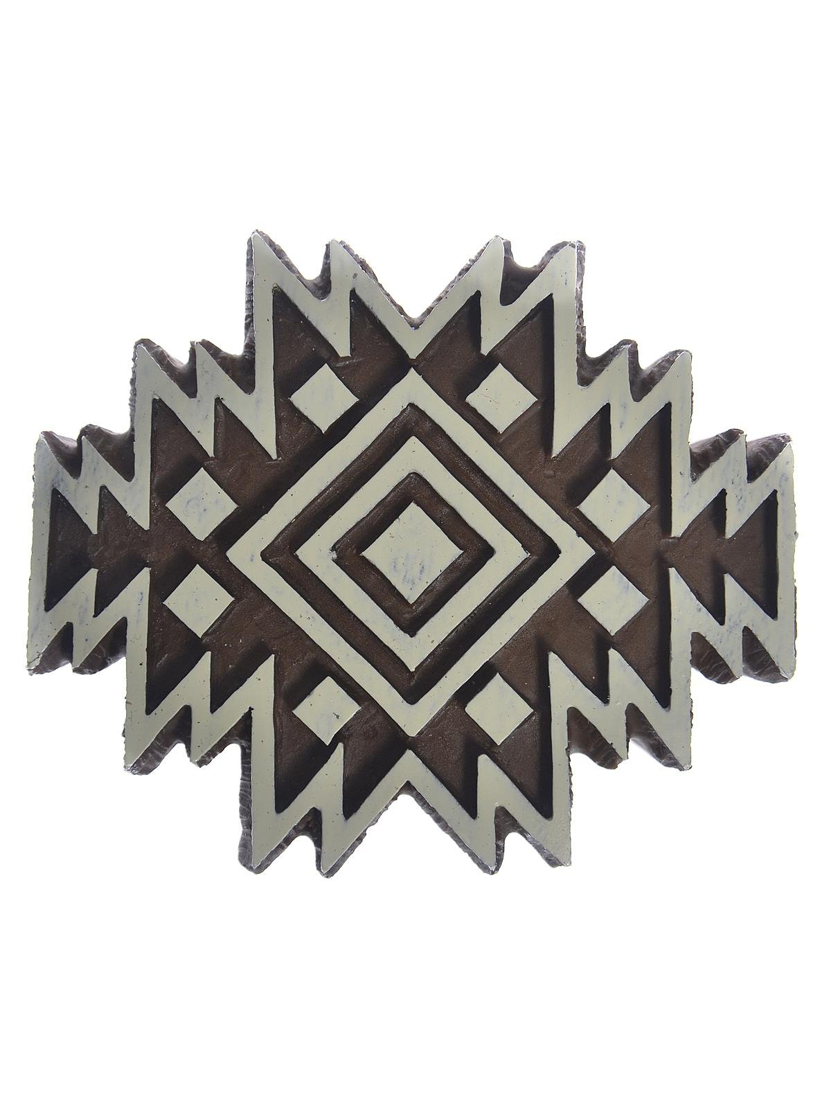 Plaid Fabric Creations Block Printing Stamps medium Aztec Tile each [PACK OF 4 ]