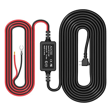 amazon com aucee dash cam hardwire kit, mini usb port,dc 12v 36vamazon com aucee dash cam hardwire kit, mini usb port,dc 12v 36v to 5v 2a max car charger cable kit with fuse,low voltage protection for dash cameras