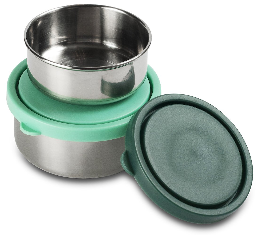 MIRA Stainless Steel 2 Container Set - Medium/Small. Teal/light blue ...