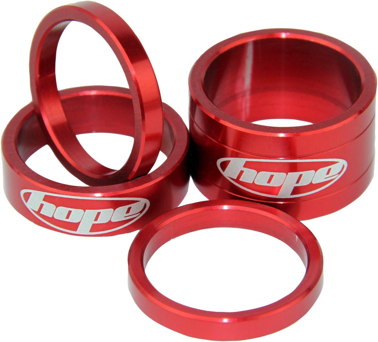 Steuersatz-Spacer HOPE 1 1//8 Aluminium Farbe Rot