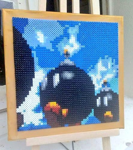 Amazon com: Canvas/Frame Super Mario 64 stage - Hama Beads