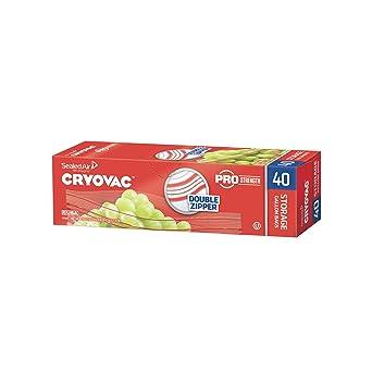 Amazon.com: Cryovac doble cierre galón bolsas de ...