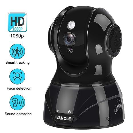 Vancle Cámara IP Inalámbrica, HD 1080P WiFi Internet Cámara de Vigilancia con Visión Nocturna,