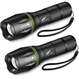 HAUSBELL Flashlight, LED Flashlight, Flashlights High Lumens, Zoomable, Water Resistant, 5 Modes, Camping Lights, Flash light