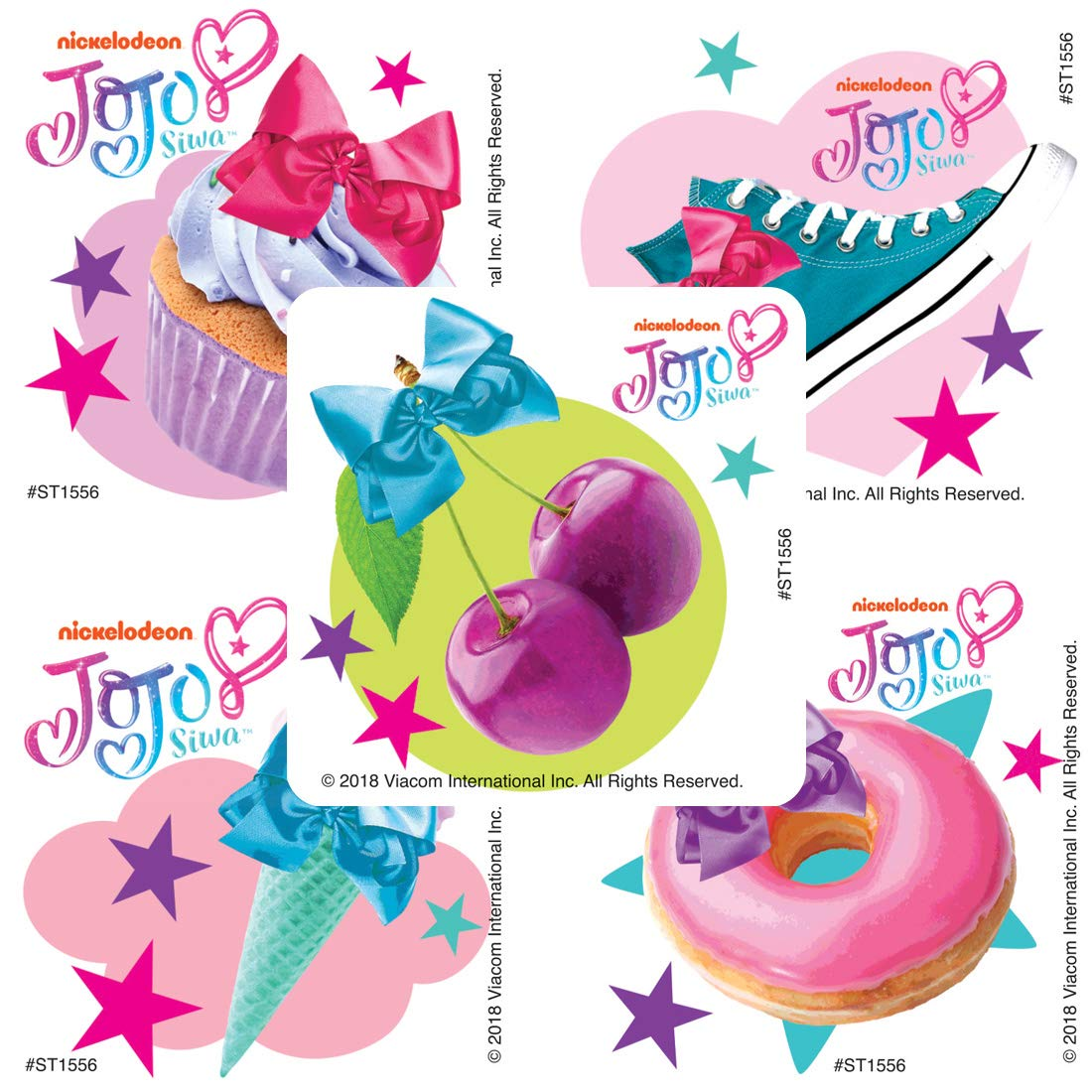 Prizes 100 per Pack SmileMakers JoJo Siwa Icons Stickers
