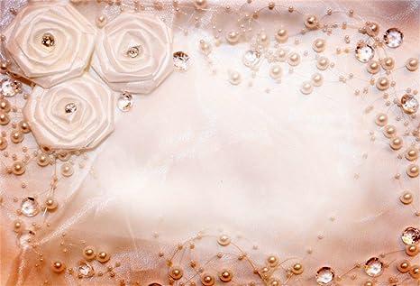 csfoto 7x5ft background for wedding invitation or bridal shower handmade flowers diamond photography bride groom love