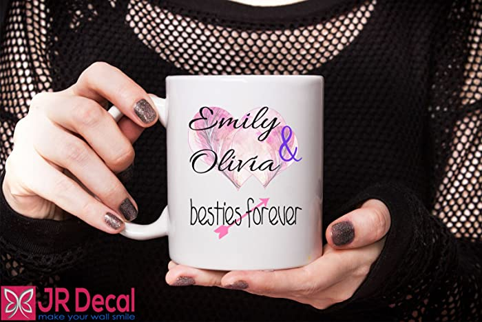 Amazon.com: Personalised Best Friends mug cup bff bestie 2 Names ...