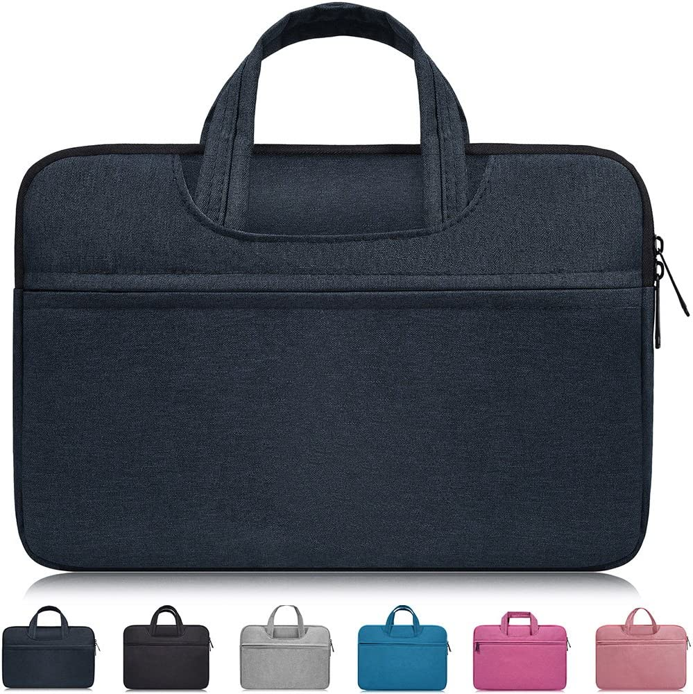 """15.6 Inch Waterpoof Laptop Case Sleeve Fit Acer Aspire E 15,Acer Predator Helios 300,HP Pavilion X360 15.6"""",ASUS VivoBook F510UA 15.6"""",Dell Lenovo Asus Samsung MSI LG HP 15.6 inch Laptop Bag,Navy Blue"""