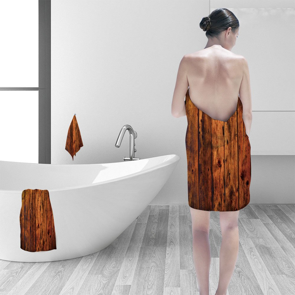 Nalahomeqq Hand towel set Grunge old wood panels for background personality printPolyesternon-mildewpattern custom made19.7''x19.7''-13.8''x27.6''-31.5''x63''