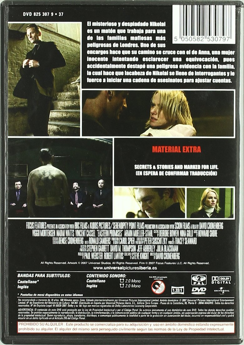Promesas del este [DVD]: Amazon.es: Viggo Mortensen, Naomi Watts ...