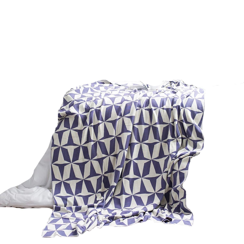 MIAOLULU Coton Main Doux canapé lit tricoté Couverture,Purple