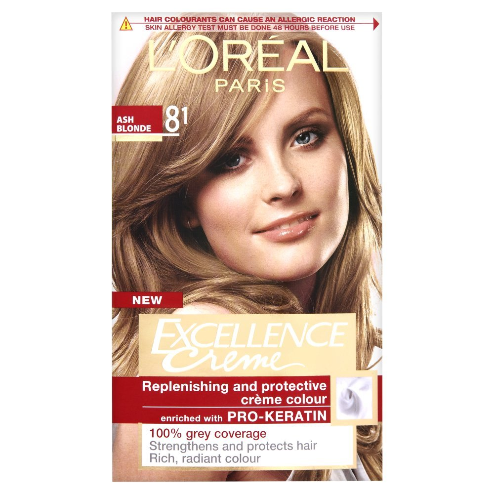 Loreal Excellence Creme Natural Ash Blonde 81 Amazon Beauty