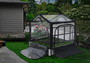 Vita VT17315 Rack Kit, for White 4' x 4' Gardens Greenhouse and Trellis, Dark Grey