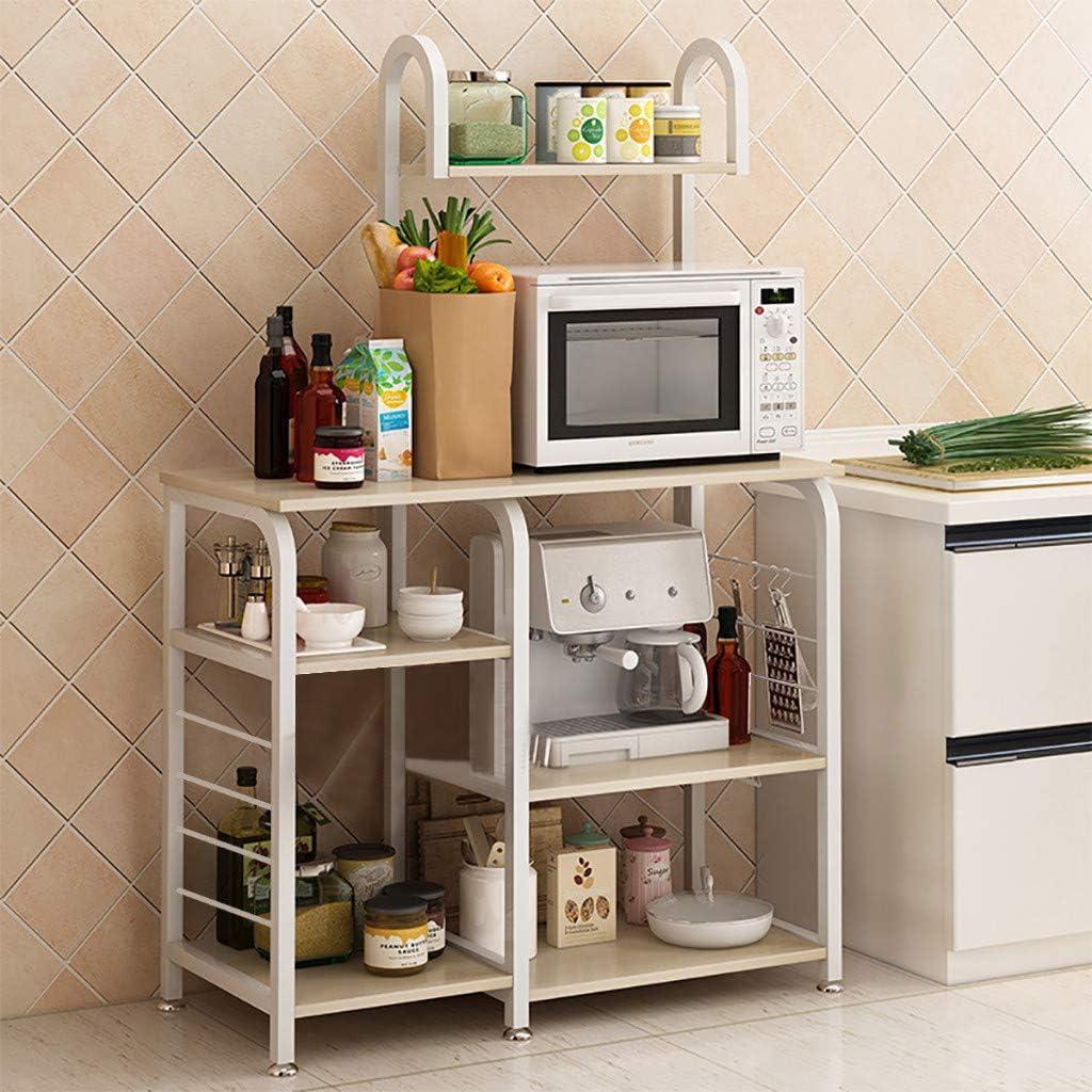 4 Tier Removable Kitchen Trolley Rack Holder Storage Shelf Organizer Wheels USA