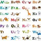 Decowall DA-1308L Alphabet & Animals Peel and Stick Nursery Wall Stickers Decals (Large)