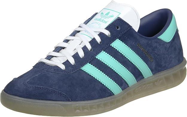 adidas Hamburg W chaussures midnight greyeasy green: Amazon
