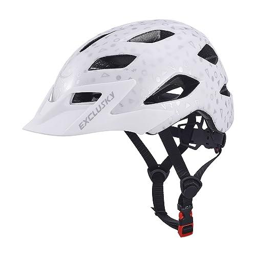 Exclusky Casques Enfants vélo Protecteur de sécurité Cyclisme Planches à roulettes Sport pour Enfants 50-57cm (âge 5-13 Ans)