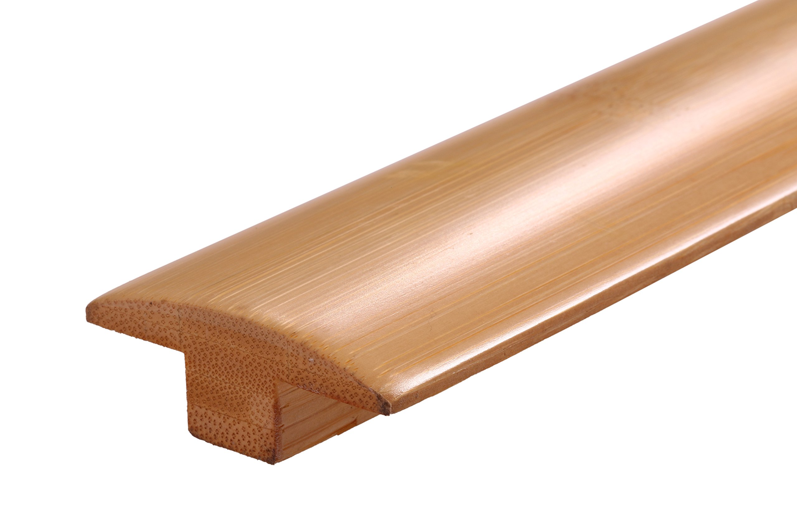 AMERIQUE AMQHNTMPC 6' Pre-Finished Solid Horizontal Natural Bamboo T-Molding, 72'' L x 2'' W x 3/4'' H