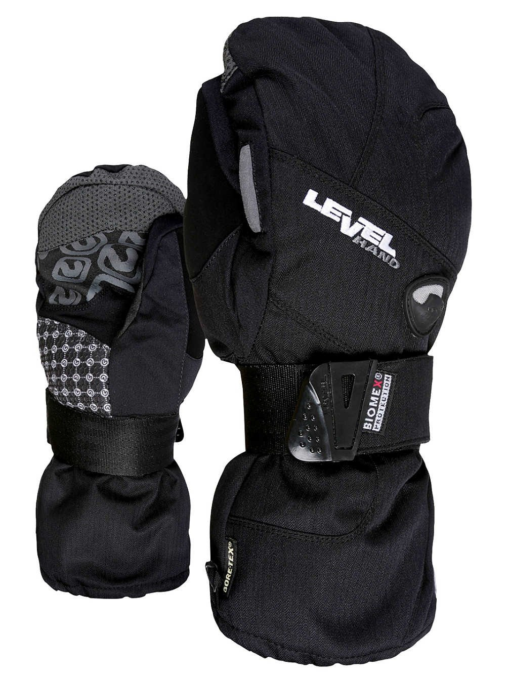 Level Women's Half Pipe Goretex Mitt Black (7.0/S) by Level 99