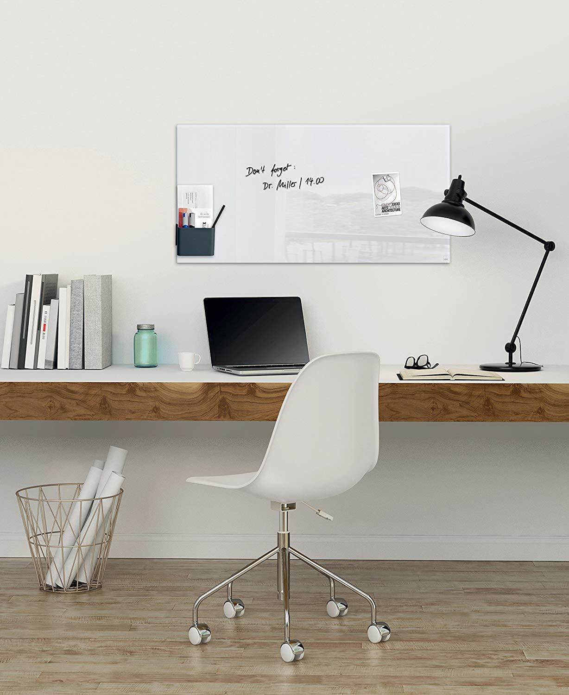 Magnettafel Artverum SIGEL GL240 Gro/ßes Glas-Magnetboard 130 x 55 cm schwarz weitere Gr/ö/ßen//Farben