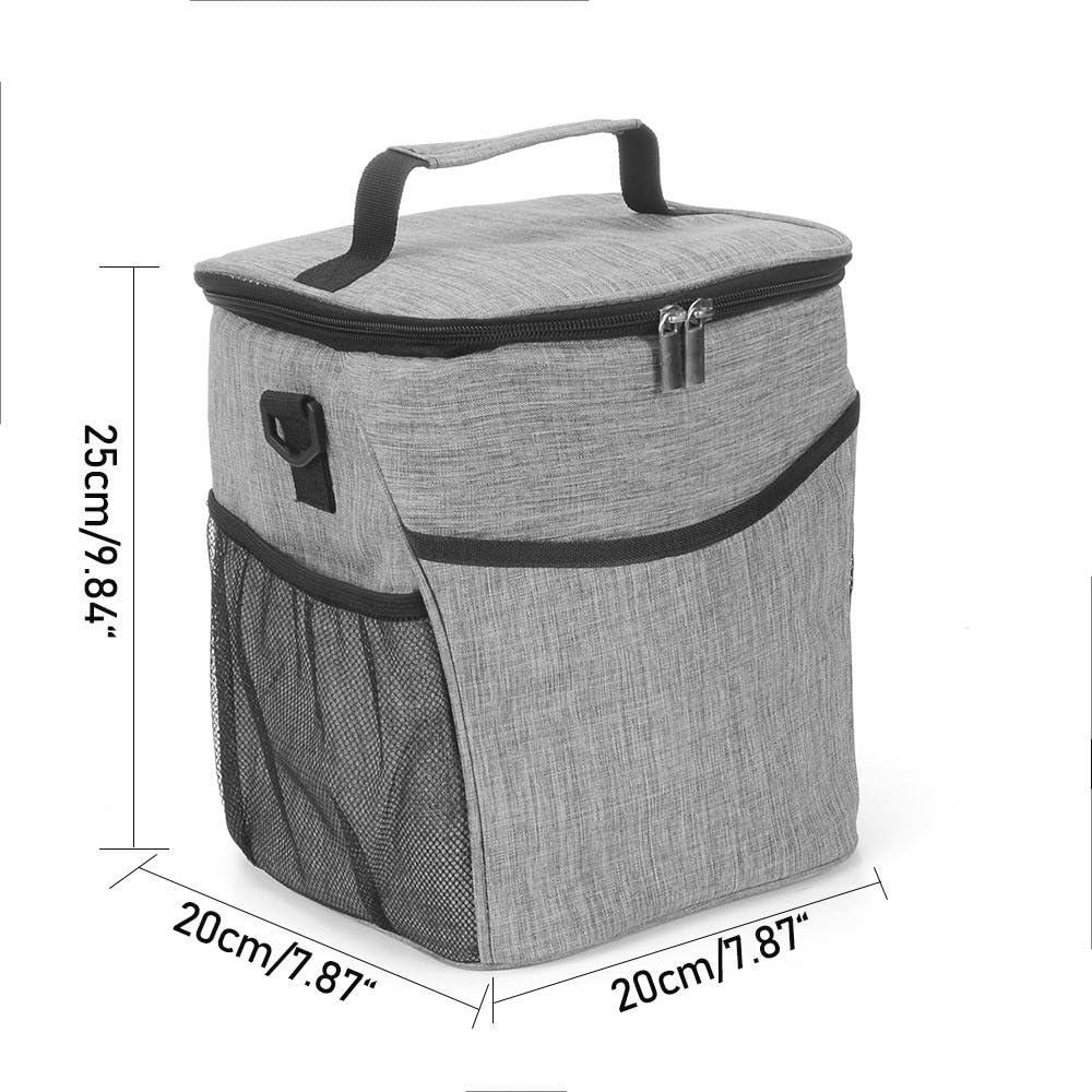Comida de Beb/é Biberones 20 X 20 X 25cm para Mantener Fr/ío o Caliente 9L//Gris Bolsa T/érmica Porta Alimentos del Almuerzo