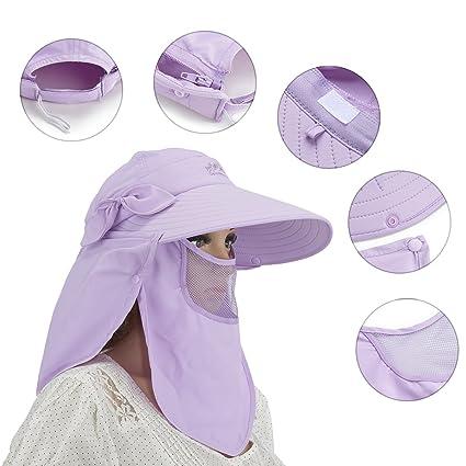 Solapa de sol Caps Sombreros UPF50 + Sun Visor plegable Wide Brimmed UV  Protección Sombrero con ff396b470c6
