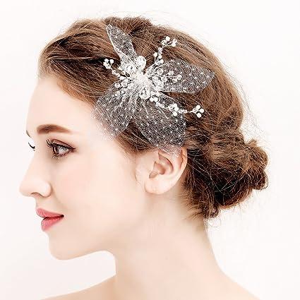 Strass sposa pettine nastri sposa testa Band matrimonio capelli capelli  fermagli per capelli da sposa perle 13fdace4a5c3