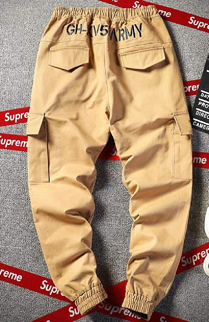 HEFASDM Mens Relaxed Fit Stretch Stylish Multi Pockets Cargo Work Pants