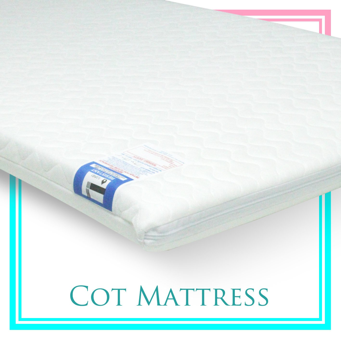 Baby Travel Cot Mattress 95 x 65 x 5 CM QUILTED fits most Graco/M&P Cots, Breathable Antiallergenic - ATM Brand ATM Baby-Brand