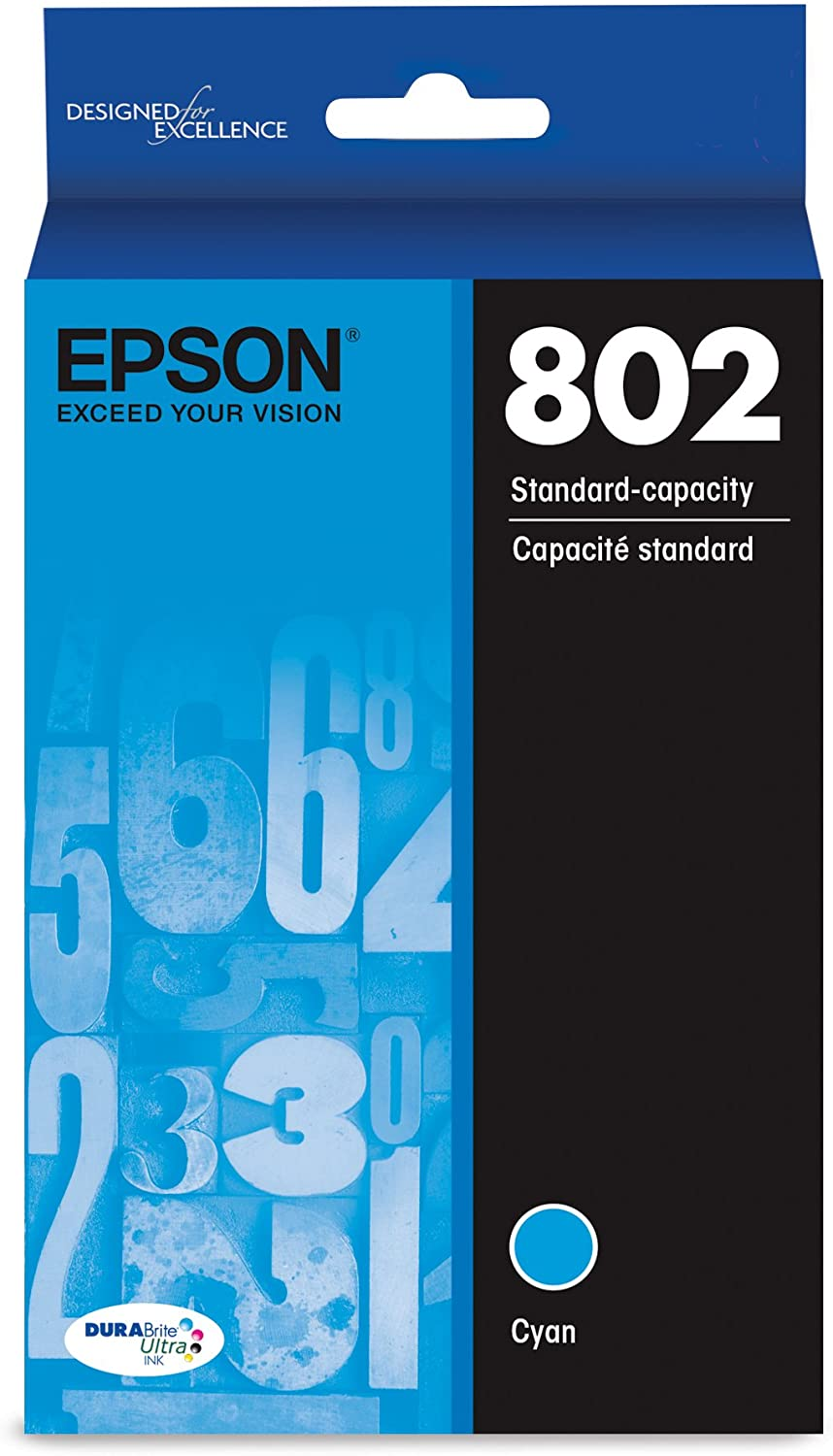 Epson T802220 DURABrite Ultra Cyan Standard Capacity Cartridge Ink