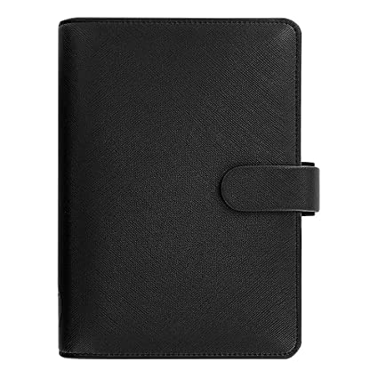 Amazon.com : Filofax Saffiano Leather Personal Black ...