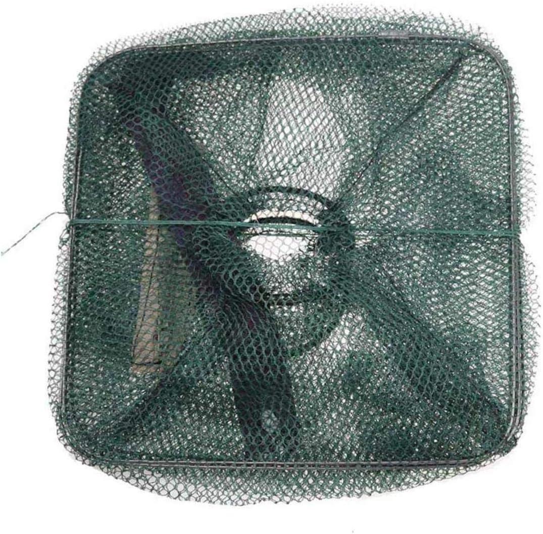 SRJSKR Tragbare Mesh-Elritze Faltbare Fischen Falle K/öder Cast Net Krabben-Fisch-Garnele Elritze 6//7//8 Einstiege fischernetz