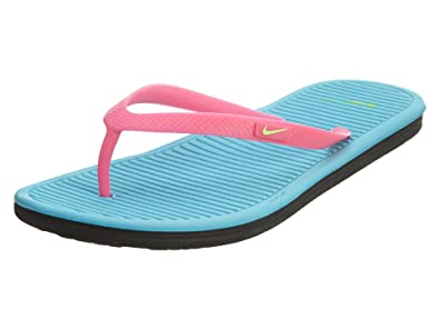 online store 46cf1 c43a3 Nike Youths Solarsoft Thong 2 Pink Synthetic Sandals 40 EU
