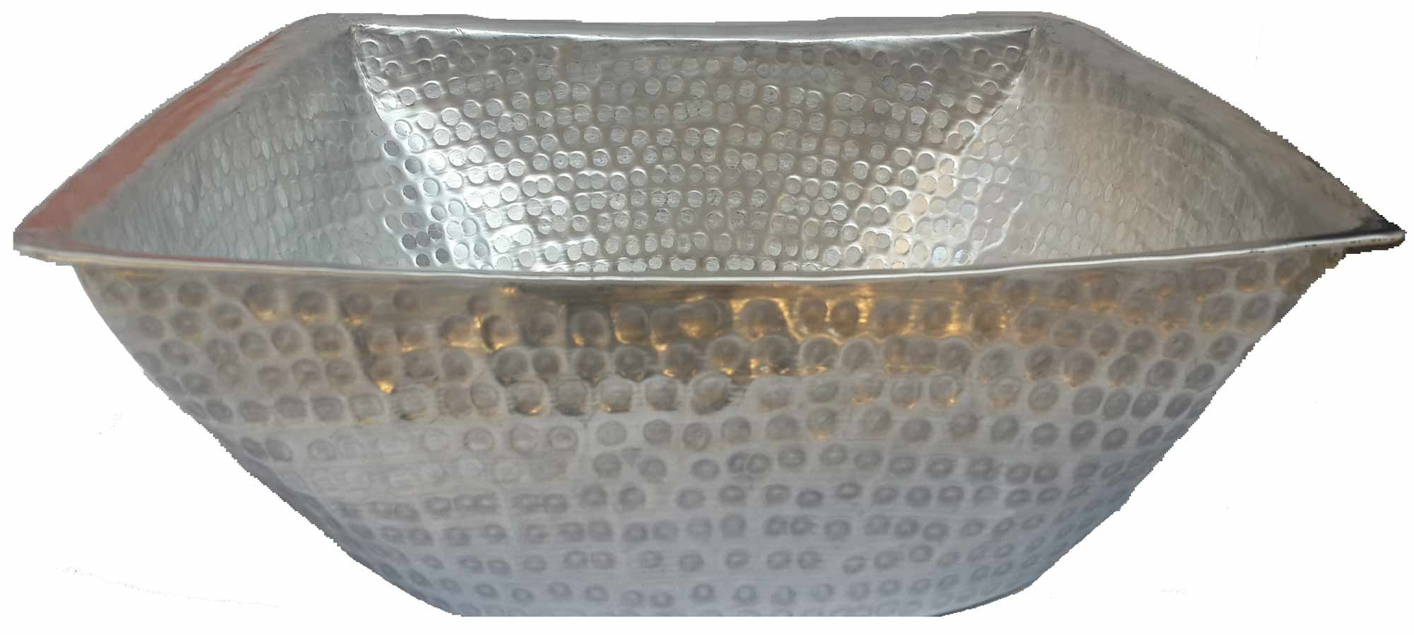 Egypt gift shops Hand Hammered Square Light Weight Silver Foot Wash Massage Spa Cleansing Bathtub Basin Beauty Salon Pedicure Relax Skin Toes Care by Egypt gift shops (Image #2)