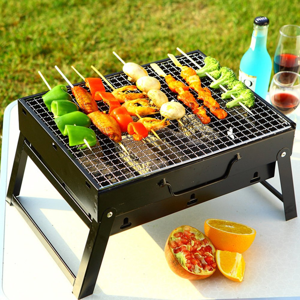 MY'S Folding BBQ Grill Stove for Camping Picnic, Easy to Carry Lightweight MY' S