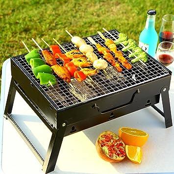 Asenart ® Barbacoa portátil parrilla de carbón No se requiere asamblea Exterior cuadrado de cocina de