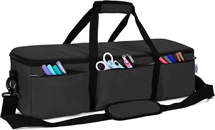 Black Foldable Bag for Cricut Explore Air and Maker Air2 and Supplies Bag Only Luxja Carrying Case for Cricut Explore Air Air2