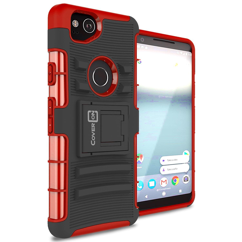 huge selection of de79d 021a9 Google Pixel 2 Holster Case, CoverON Explorer Series Protective Hybrid  Phone Cover with Adjustable Belt Clip Holster for Google Pixel 2 - Blue
