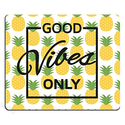 Amazon.com : Good Vibes Only Pineapple Motivational Sign ...