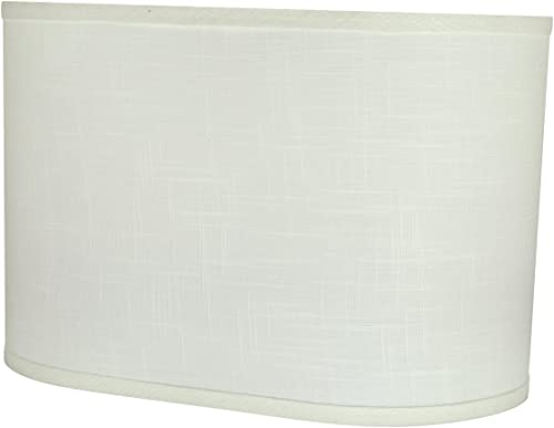 Aspen Creative 37051 Transitional Oval Hardback Shaped Spider Construction Lamp Shade in Off-White, Wide 9 16 1 2 x 11