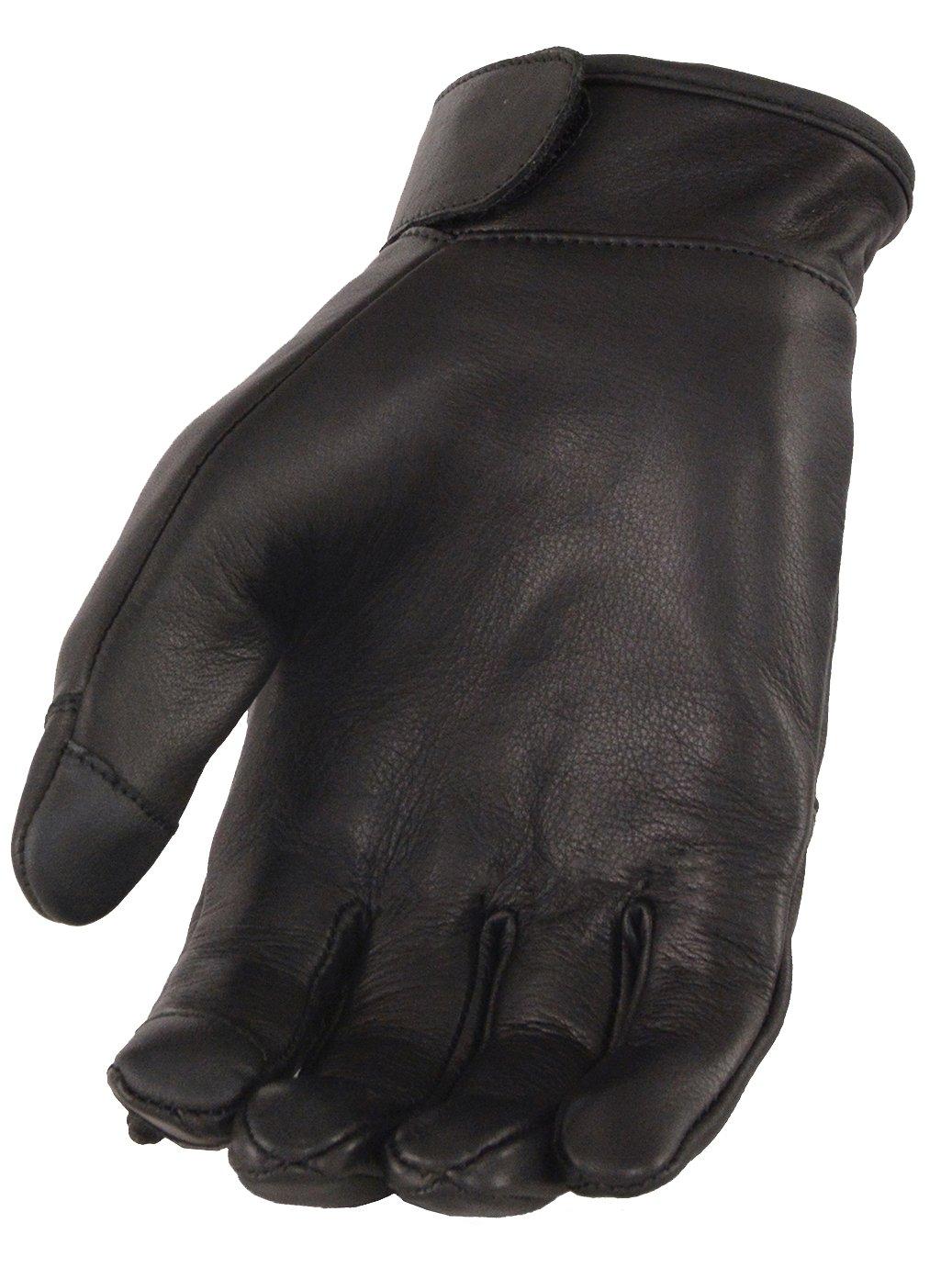 Men's Premium Leather Gloves w// Led Finger Lights w// Touch Screen Fingers MG7599