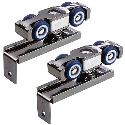 UHPPOTE Soft-close 4 Colgante Rueda Rodillo Carril Polea Hardware Para Colgante Puerta Corredera (