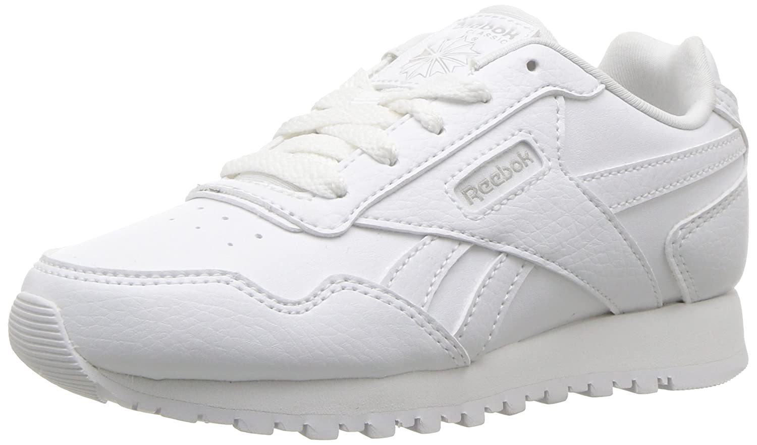 bdfdadbfc7bc8 Reebok Kid's REEBOK CL HARMAN RUN S Shoe 4.5 Child US, Little Kid,  white/steel