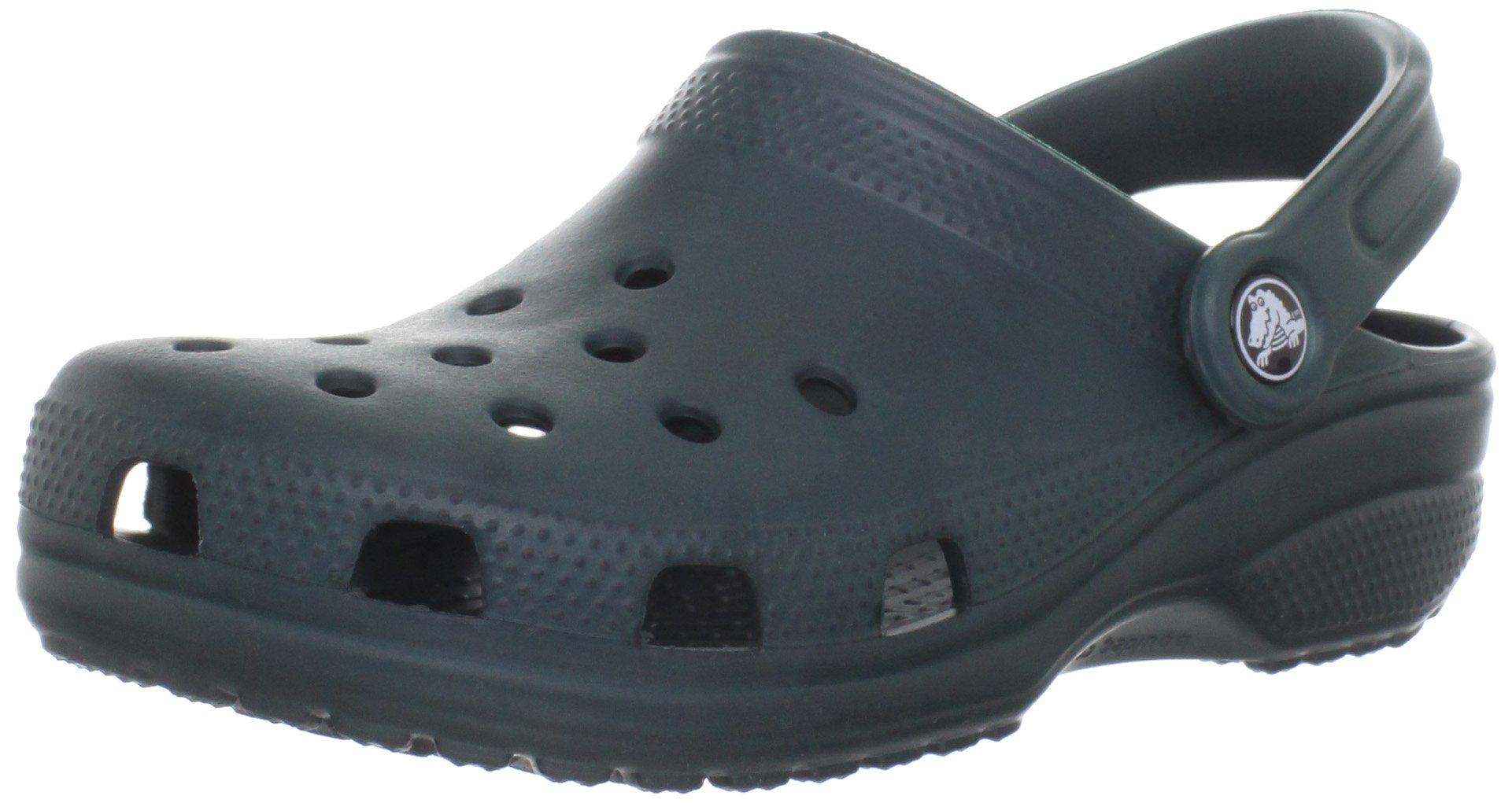 Crocs Classic Clog Adults, Evergreen 9 M US Women / 7 M US Men