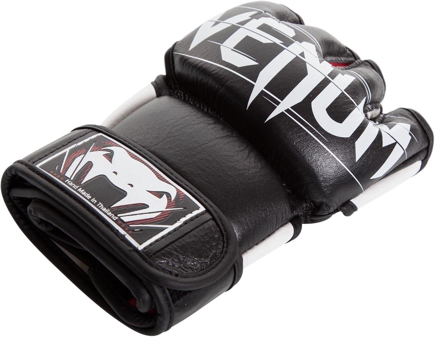 Venum Undisputed 2.0 MMA Gloves Nappa Leather Black Fight Training Martial Arts