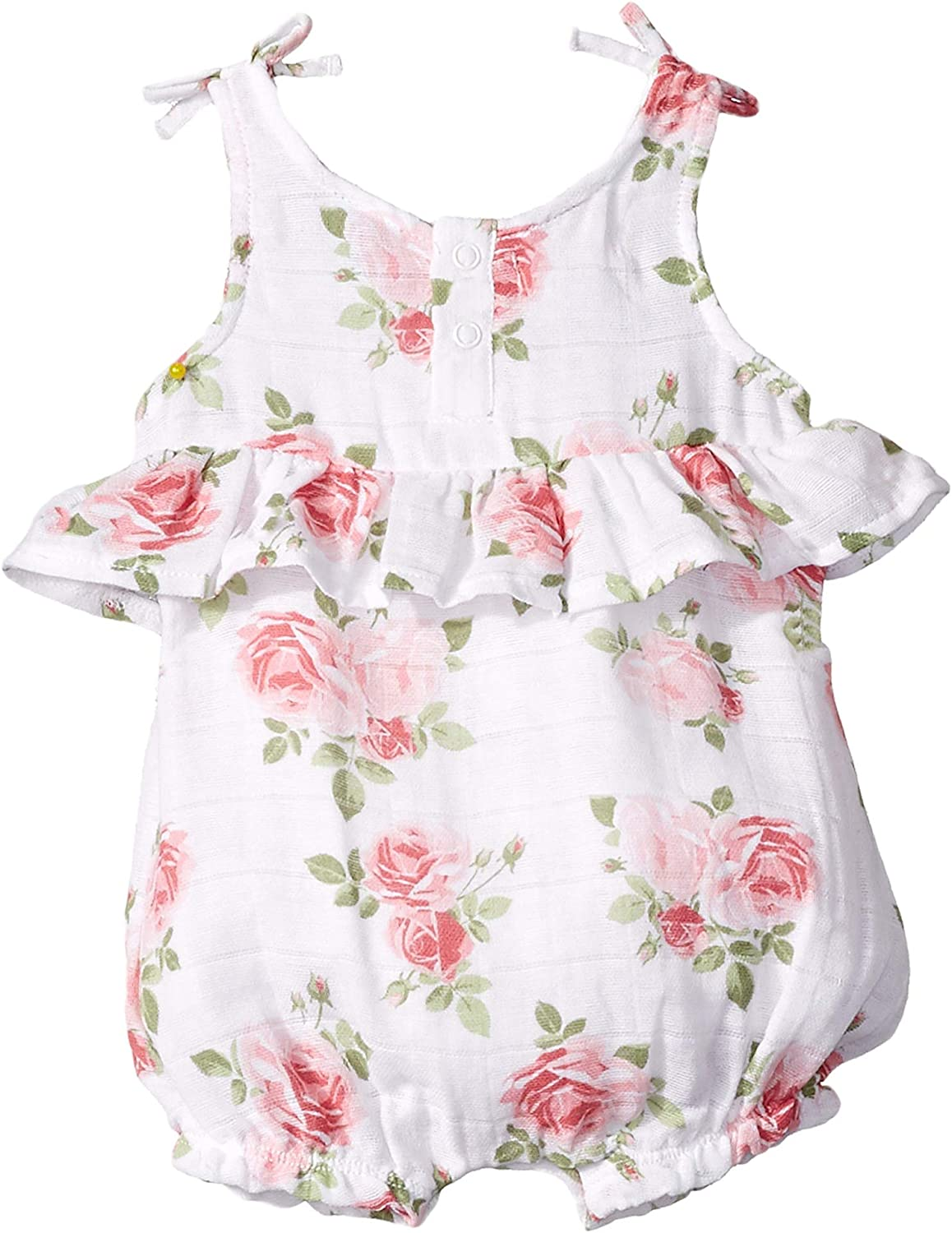 Mud Pie Baby Girls Muslin Rose Bubble Infant