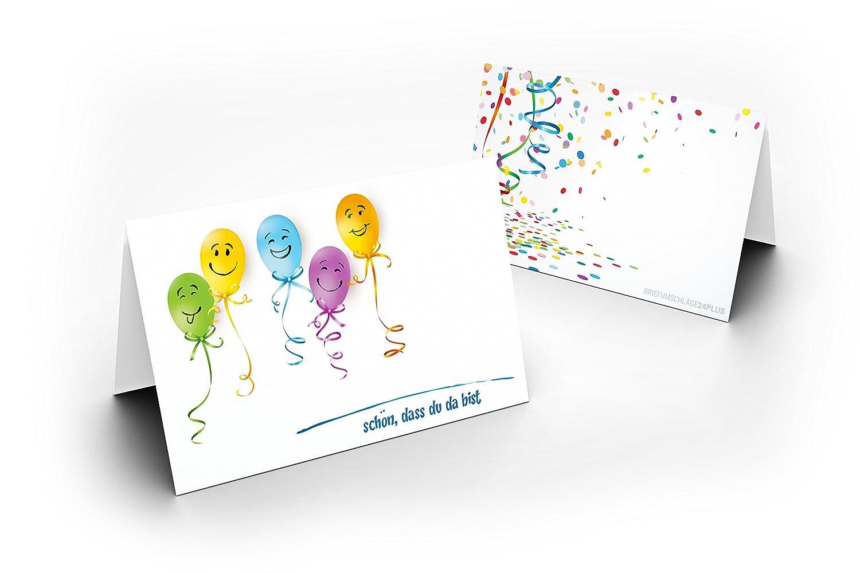 50 Tischkarten Party Jubil/äum als liebevolle Tischdekoration!Format 8,5 x 11,2 cm f/ür Hochzeit Taufe UV-Lack gl/änzend Firmung Geburtstag Kommunion