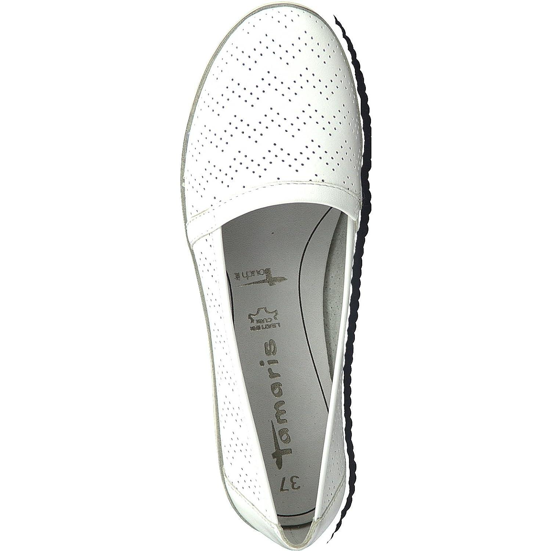 Tamaris 1-1-24613-20 Damen Slipper, Mokassins, Halbschuhe, Sommerschuhe für für Sommerschuhe die modebewusste Frau Weiß 03db2b