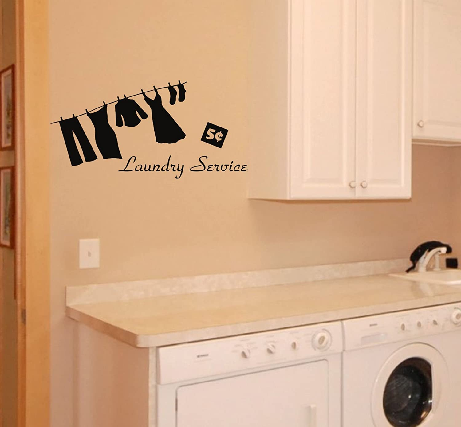 Amazon.com: Laundry Room wall decal: Home & Kitchen