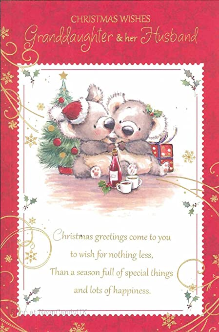 Christmas to granddaughter and her husband greeting cards cute christmas to granddaughter and her husband greeting cards cute lovely words x10a m4hsunfo